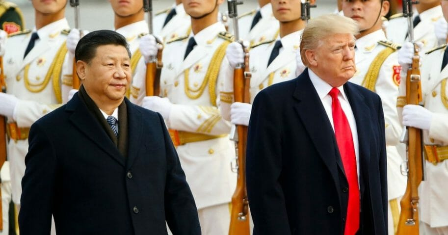 President Donald Trump with China's President Xi Jinping.
