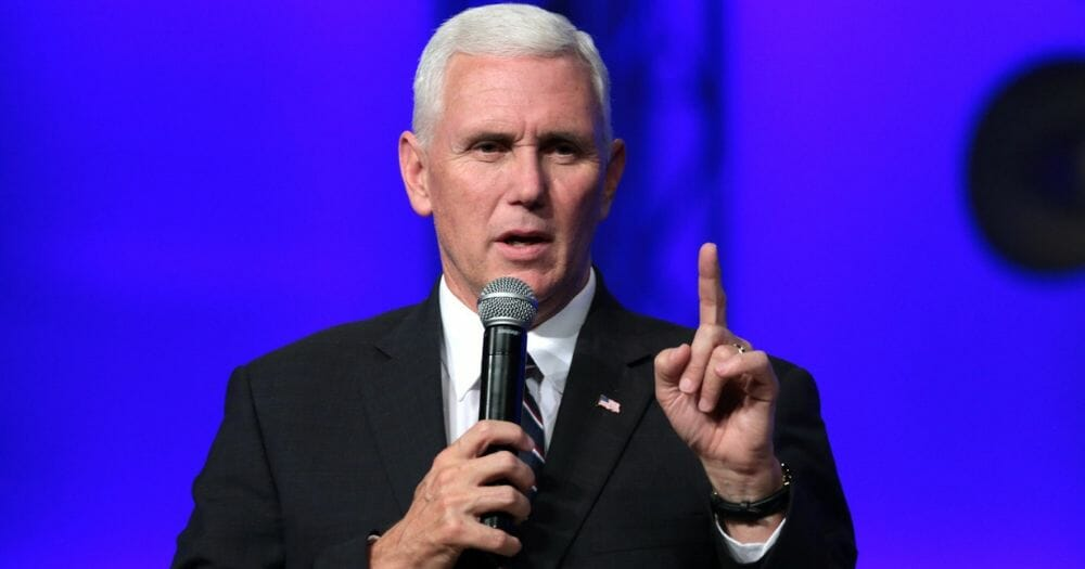 Mike Pence speaks at the Living Word Bible Church in Mesa, Arizona.