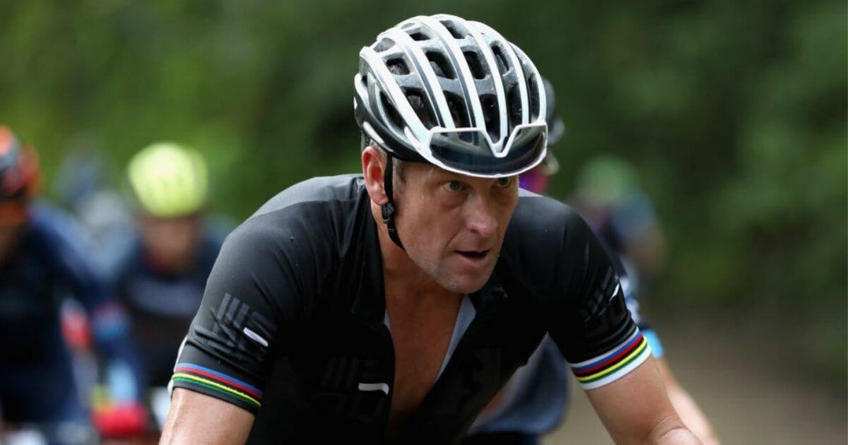 Lance Armstrong competes in the La Ruta de Los Conquistadores on Nov. 1, 2018, in Jaco, Costa Rica.
