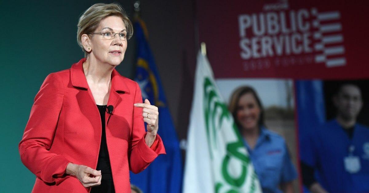 Democratic presidential candidate and U.S. Sen. Elizabeth Warren