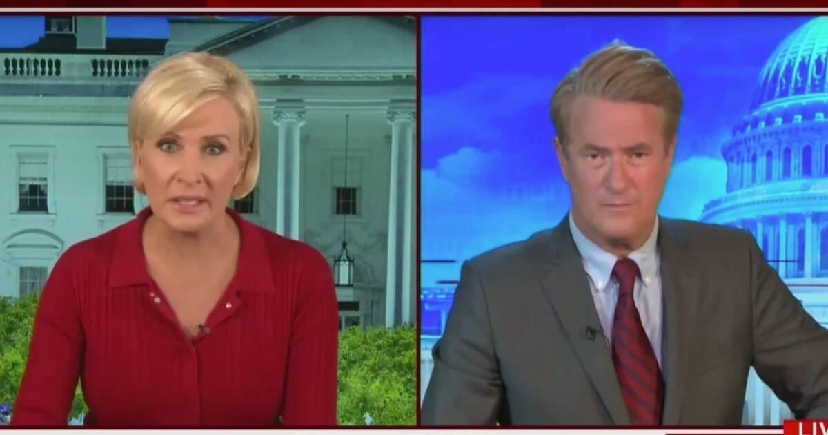 "MSNBC's ""Morning Joe"" co-hosts Mike Brzezinski, left, and Joe Scarborough discuss President Donald Trump on Tuesday's program."
