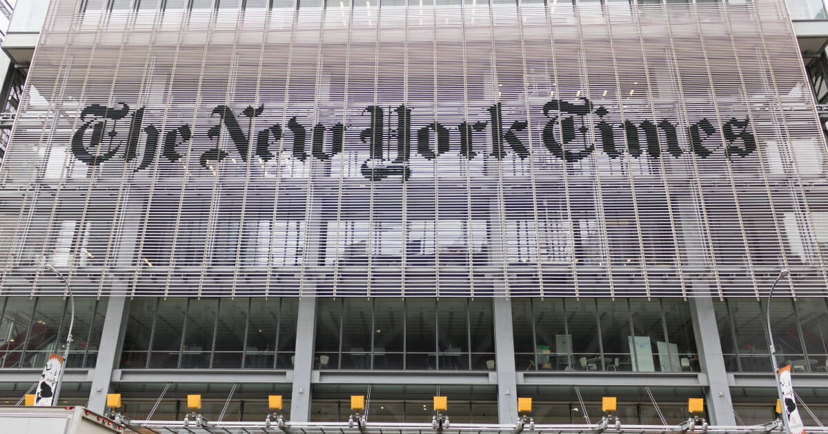 The New York Times' headquarters in Manhattan.
