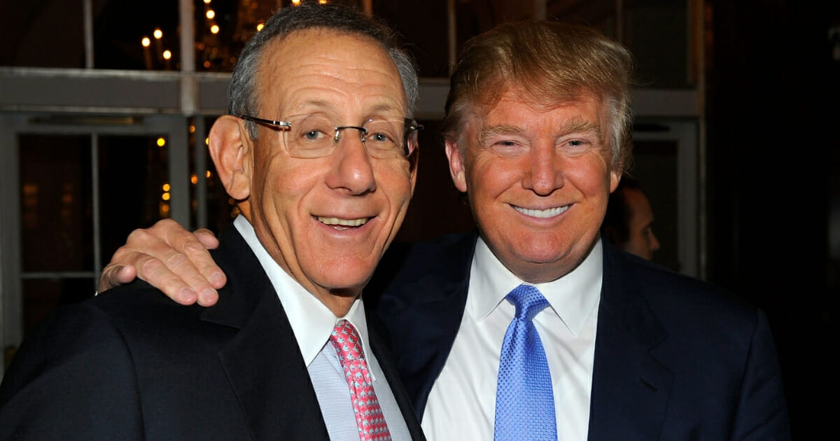 Miami Dolphins owner Stephen Ross and Donald Trump attend the 25th Great Sports Legends Dinner to benefit the Buoniconti Fund to Cure Paralysis at The Waldorf Astoria in New York on Sept. 27, 2010.