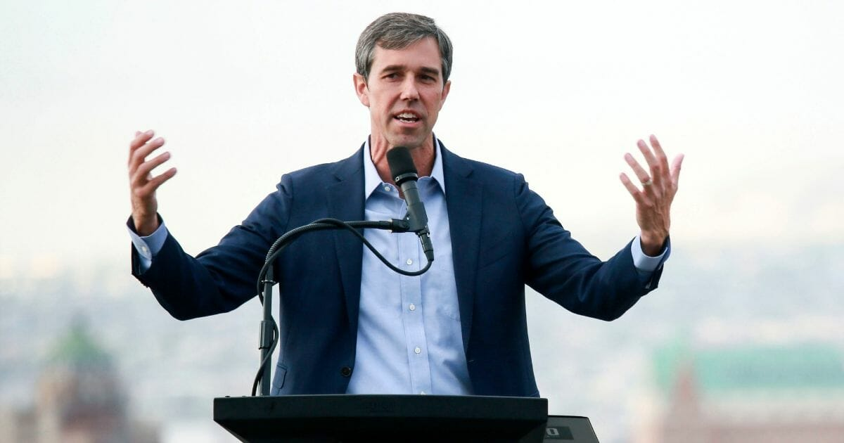 Democratic presidential candidate, former Rep. Beto O'Rourke (D-TX) speaks to media and supporters during a campaign re-launch on Aug. 15, 2019, in El Paso, Texas.