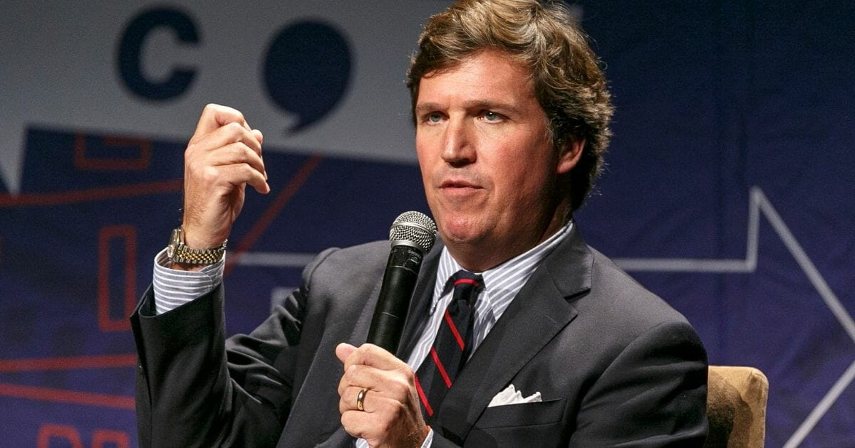 Fox News' host Tucker Carlson at Politicon in Los Angeles in October.