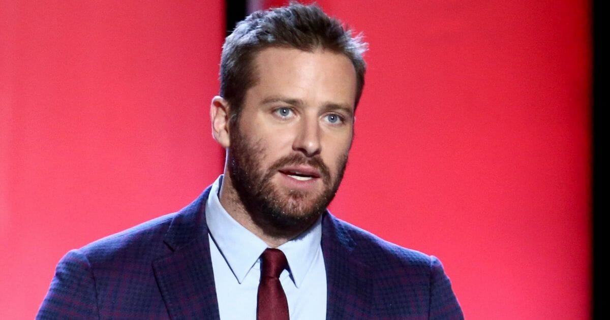 Hollywood actor Armie Hammer speaks at the 2019 Film Independent Spirit Awards in February in Santa Monica, California.