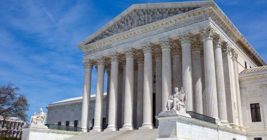 U.S. Supreme Court building in Washington.