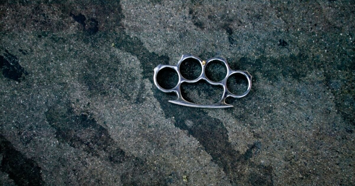 Brass knuckles found on a Los Angeles street