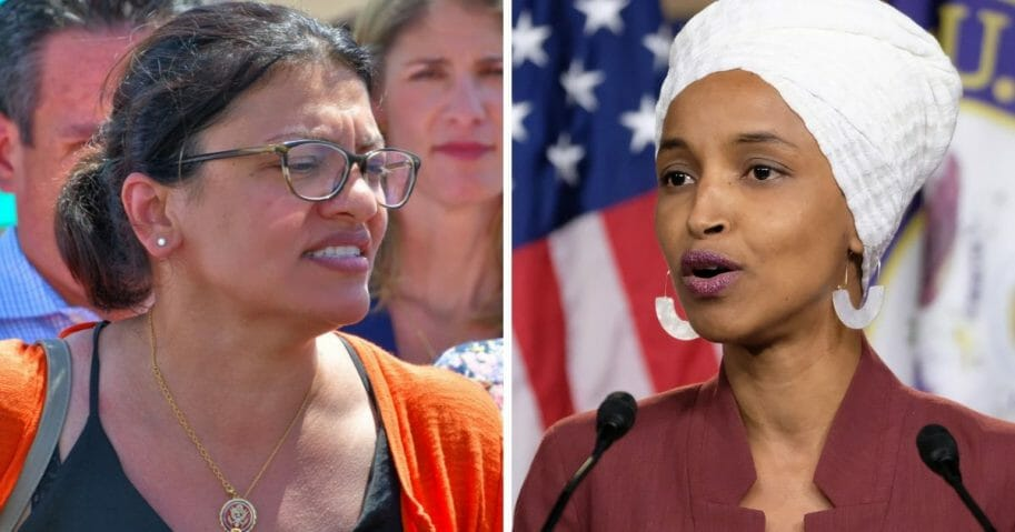Reps. Rashida Tlaib, left, and Ilhan Omar.