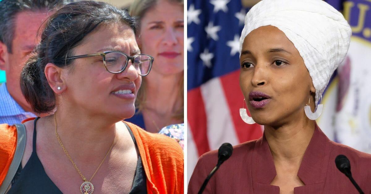 Reps. Rashida Tlaib, left, and Ilhan Omar.