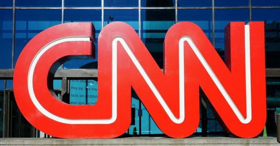 View of the CNN logo at the CNN Center, the world headquarters of the CNN news network located in downtown Atlanta, Georgia.