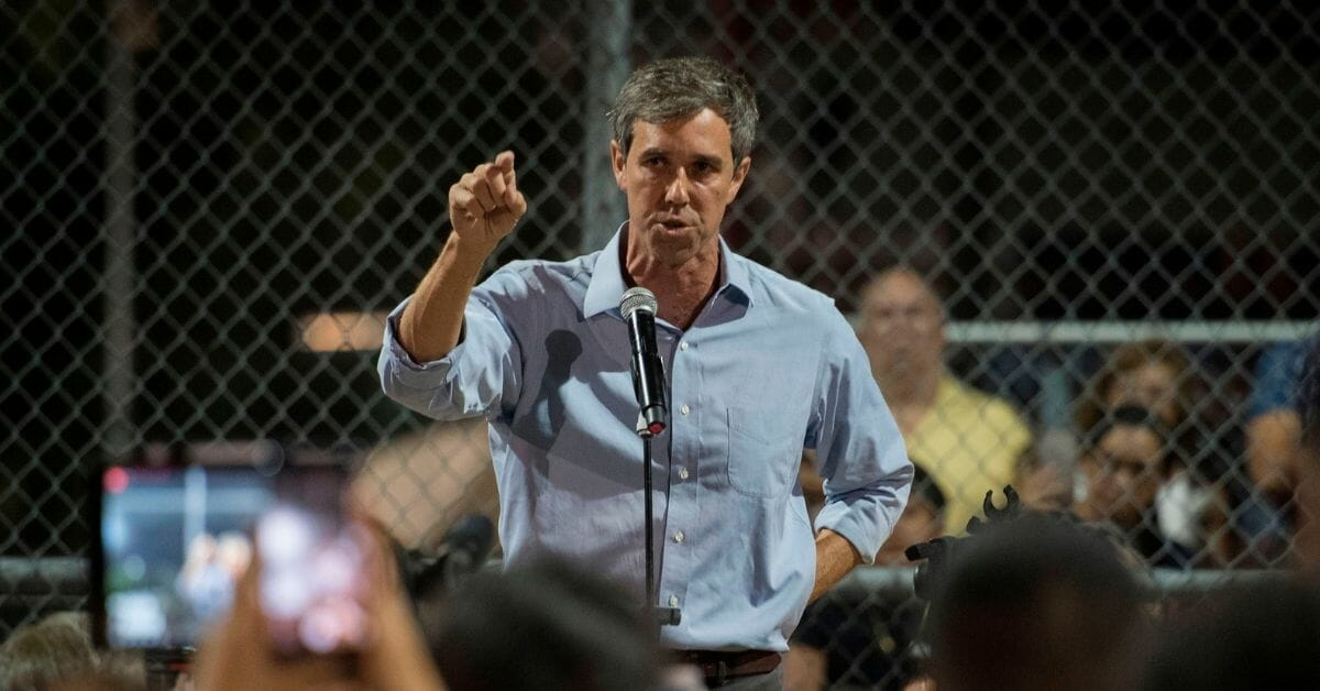 US-CRIME-SHOOTING-TOLL Democratic presidential hopeful and former US Representative for Texas' 16th congressional district Beto O'Rourke speaks to the crowd during a prayer and candle vigil organized by the city, after a shooting left 20 people dead at the Cielo Vista Mall WalMart in El Paso, Texas, on August 4, 2019. - The United States mourned Sunday for victims of two mass shootings that killed 29 people in less than 24 hours as debate raged over whether President Donald Trump's rhetoric was partly to blame for surging gun violence. The rampages turned innocent snippets of everyday life into nightmares of bloodshed: 20 people were shot dead while shopping at a crowded Walmart in El Paso, Texas on Saturday morning, and nine more outside a bar in a popular nightlife district in Dayton, Ohio just 13 hours later. (Photo by Mark RALSTON / AFP) (Photo credit should read MARK RALSTON/AFP/Getty Images)