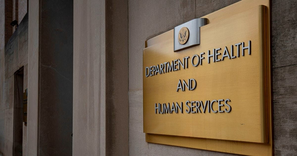 The US Department of Health and Human Services building is seen in Washington, DC, on July 22, 2019.