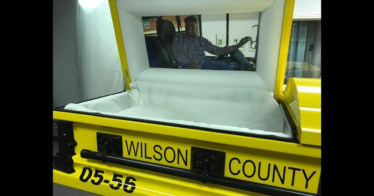 Yellow School Bus Casket