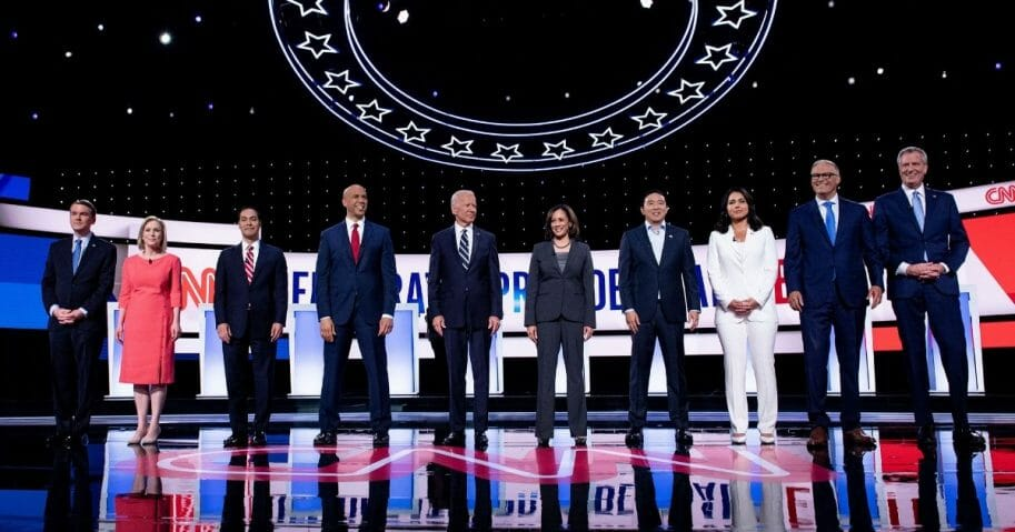 Democratic candidates n the second round of the second Democratic primary debate of the 2020 presidential campaign season.