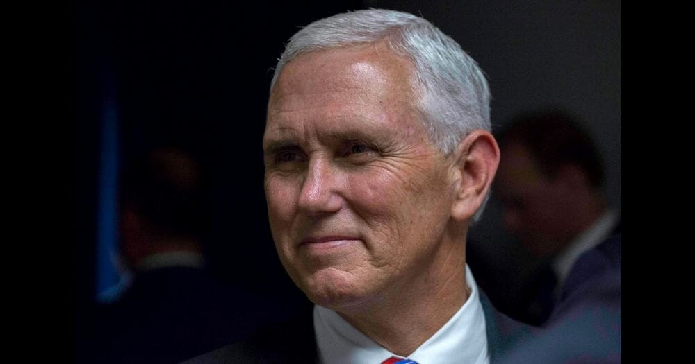 Vice President Mike Pence backstage at the Unleashing American Energy Event at Energy Department Headquarters in Washington D.C.