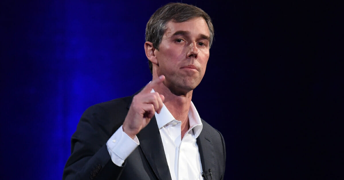 Beto O'Rourke speaks onstage at Oprah's SuperSoul Conversations at PlayStation Theater on Feb. 5, 2019 in New York City.