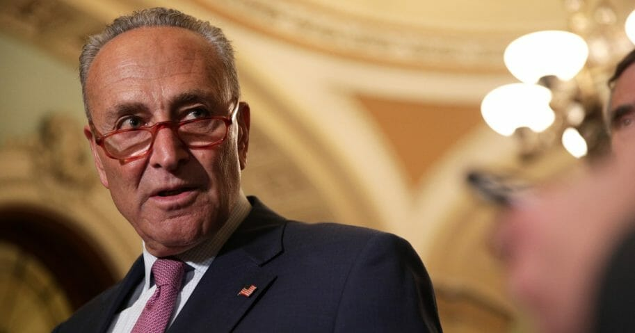 Senate Minority Leader Sen. Chuck Schumer speaks during a news briefing after the weekly Senate Democratic policy luncheon Sept. 10, 2019 at the U.S. Capitol in Washington, D.C.