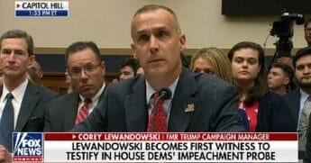 Former Trump campaign manager Corey Lewandowski testifies before the House Judiciary Committee on Tuesday.