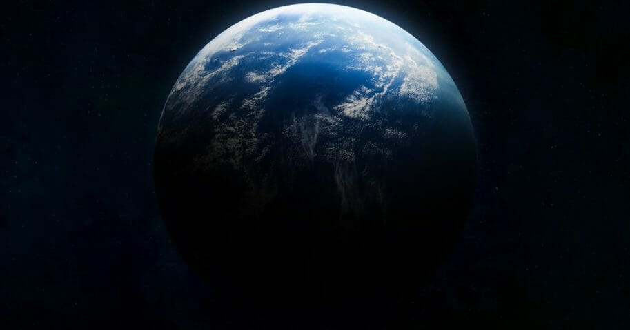 Astronomers believe they have discovered the first planet outside of our solar system that has both water and temperatures that could support life. The image above shows the Earth as seen from space.