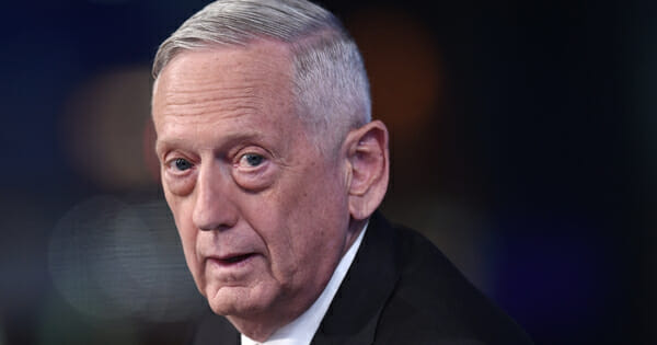 """Former Secretary of Defense James Mattis visits Fox News Channel's """"The Story with Martha MacCallum"""" on Sept. 3, 2019, in New York City."""