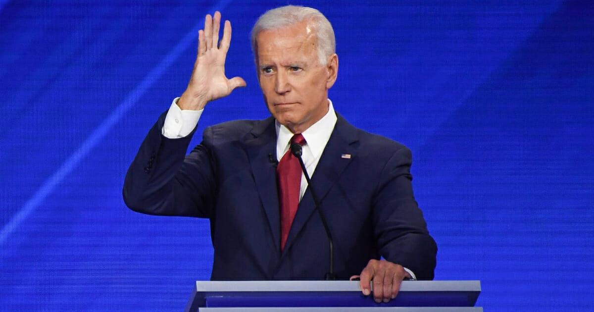 Democratic presidential hopeful and former Vice President Joe Biden speaks during the third Democratic primary debate of the 2020 presidential campaign season at Texas Southern University in Houston, Texas, on Sept. 12, 2019.