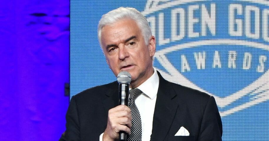 Actor/host John O'Hurley speaks at the 2018 Golden Goggle Awards on November 19, 2018 in New York City.