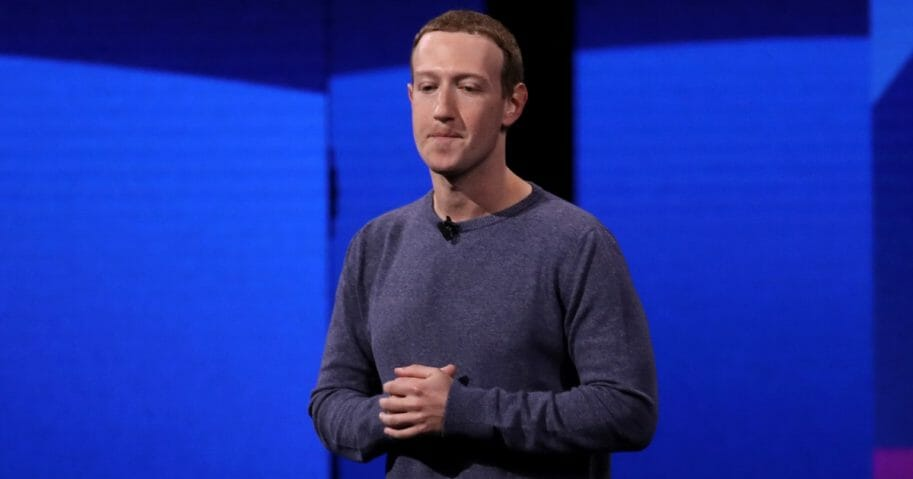 Facebook CEO Mark Zuckerberg speaks during the F8 Facebook Developers conference in San Jose, California.
