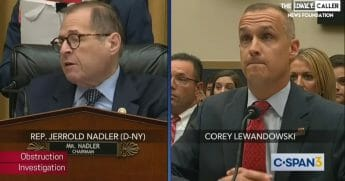 Rep. Jerrold Nadler, left, gets frustrated as former Trump campaign manager Corey Lewandowski proves an uncooperative witness on Tuesday in the House Judiciary Commttee.