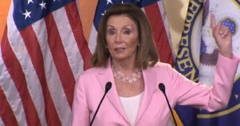 House Speaker Nancy Pelosi speaks to reporters Thursday before abruptly ending her weekly news conference.