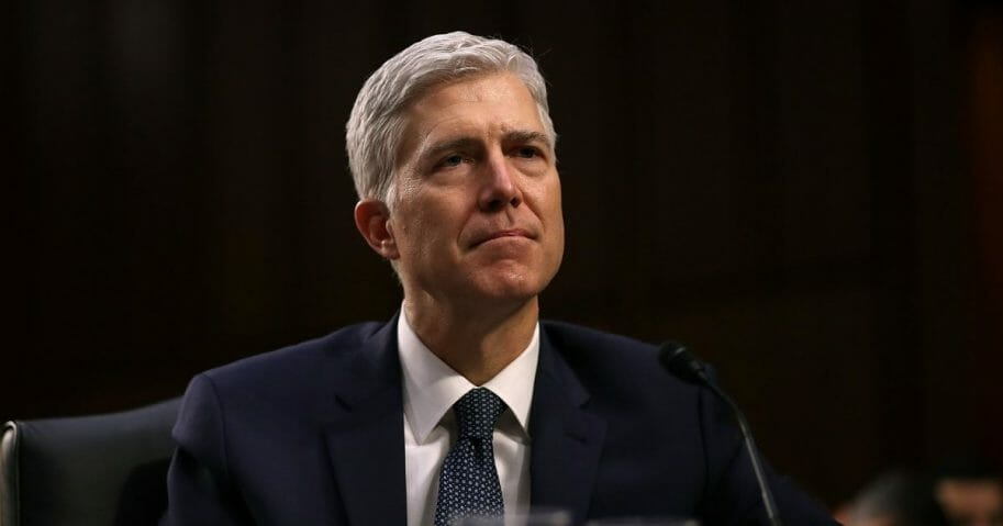 Judge Neil Gorsuch testifies during the third day of his Supreme Court confirmation hearing before the Senate Judiciary Committee in the Hart Senate Office Building on Capitol Hill, March 22, 2017, in Washington.