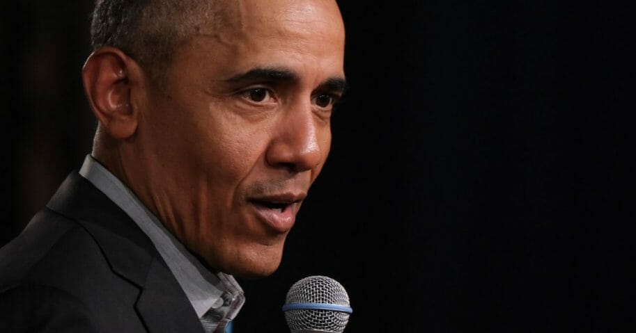 Former President Barack Obama is pictured in a file photo from April at an event in Berlin.