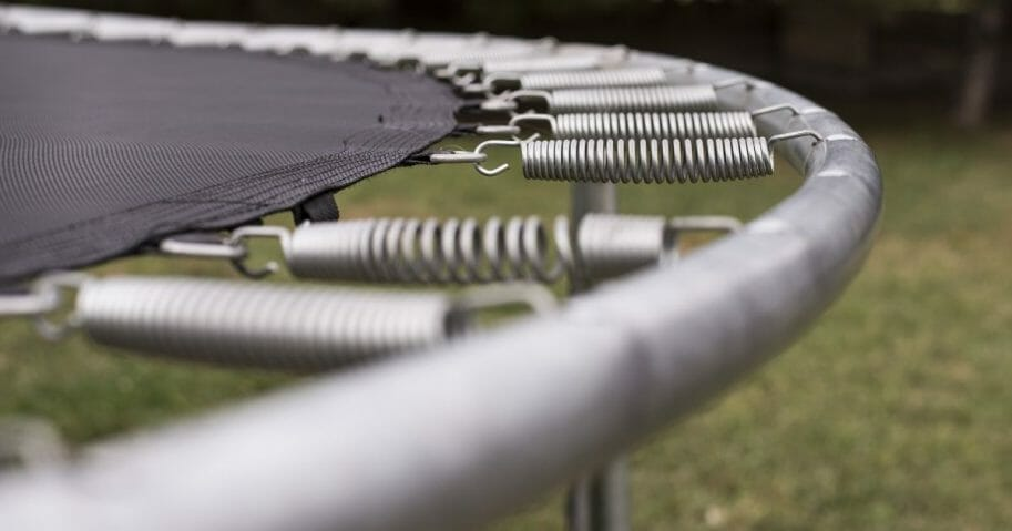 A stock image of a trampoline.