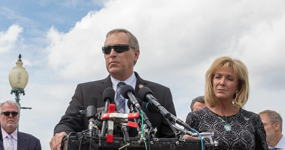 Arizona Rep. Andy Biggs speaks at a press conference on June 18, 2019, in Washington, D.C.