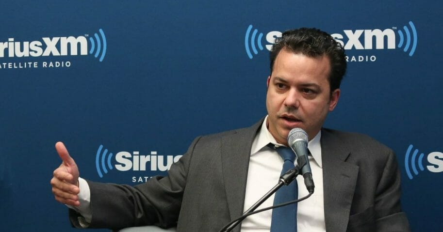 Political commentator John Avlon attends a special edition of SiriusXM's No Labels Radio, airing on SiriusXM POTUS at SiriusXM Studios on May 5, 2015, in New York City, New York.