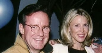 Comedian Phil Hartman with his wife, Brynn.