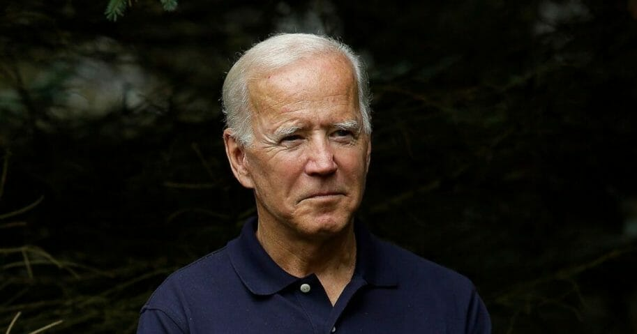 Democratic presidential candidate former Vice President Joe Biden waits to be introduced during the Democratic Polk County Steak Fry on September 21, 2019, in Des Moines, Iowa.