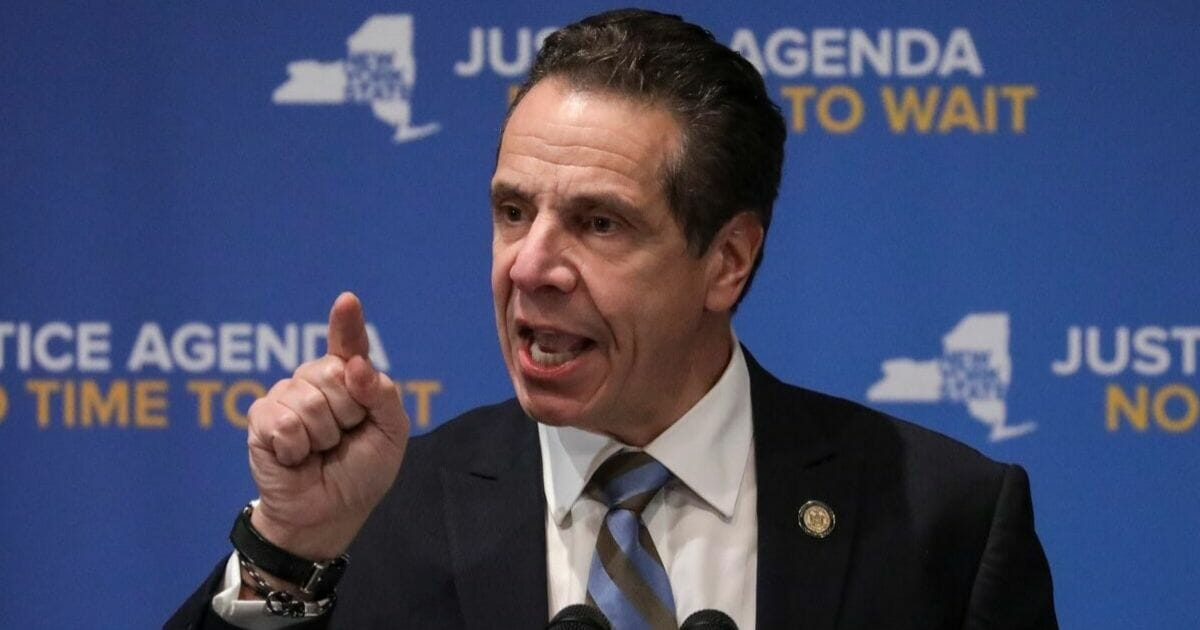 New York Gov. Andrew Cuomo is pictured in a file photo from January.