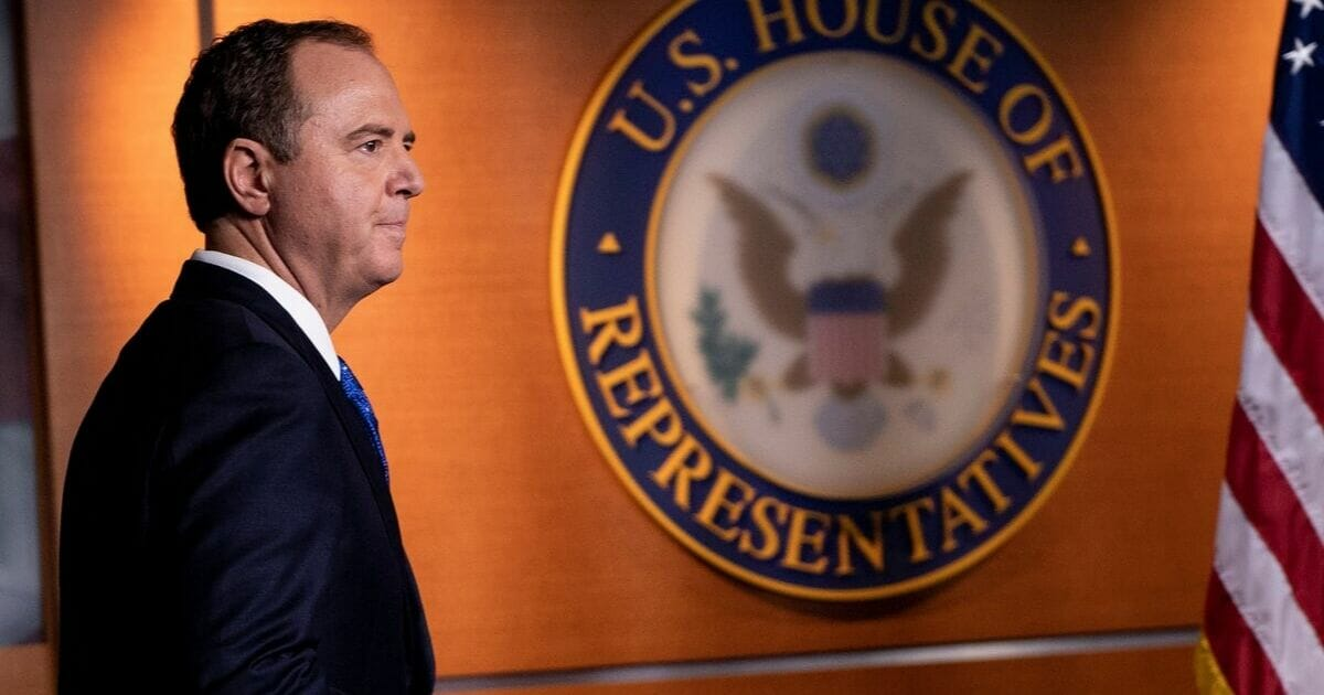House Intelligence Committee Chairman Rep. Adam Schiff arrives for a news conference last week on Capitol Hill.