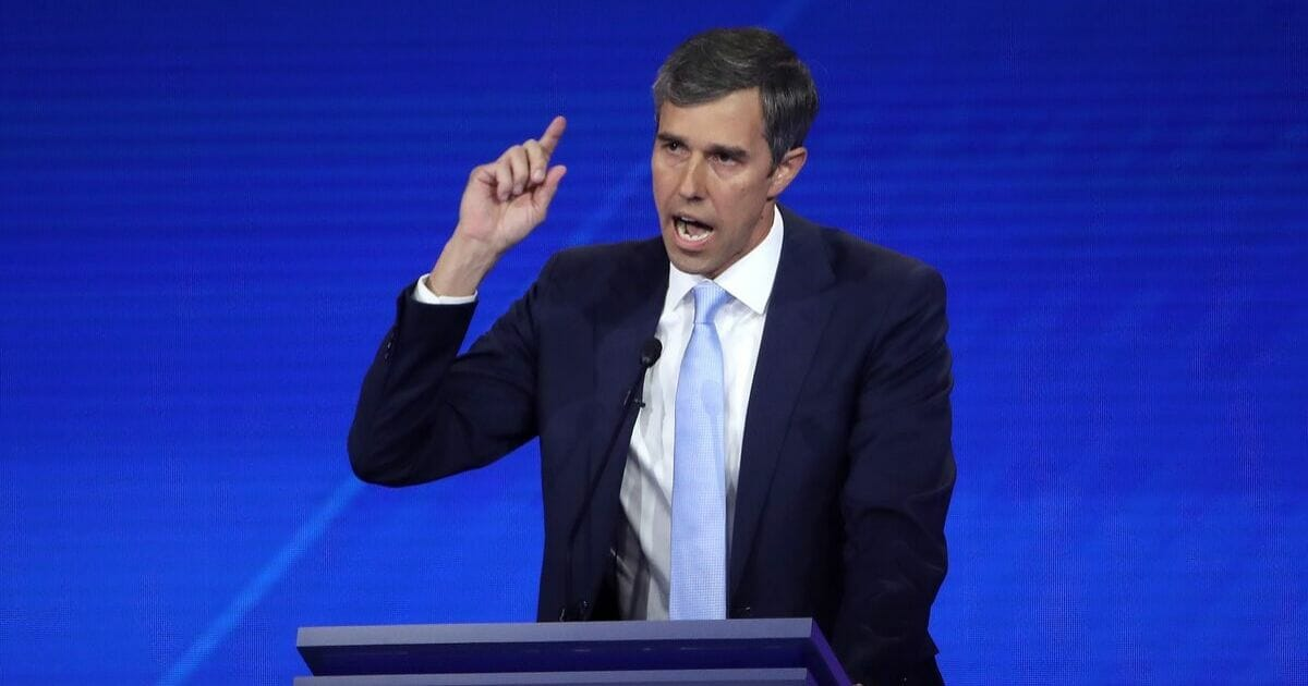 Democratic presidential candidate former Texas congressman Beto O'Rourke speaks during the Democratic Presidential Debate at Texas Southern University's Health and PE Center on Sept. 12, 2019 in Houston, Texas.