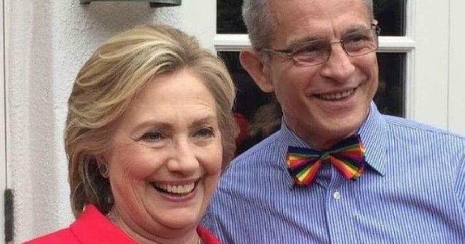 Hillary Clinton and Democratic donor Ed Buck.