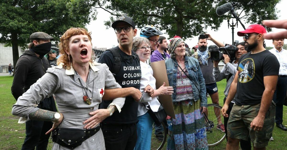 Leftist protesters