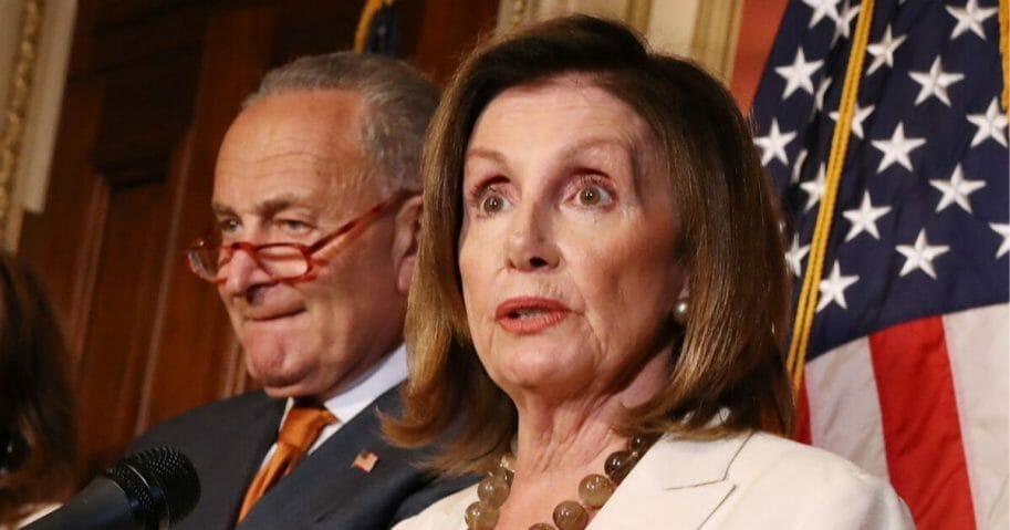 Speaker of the House Nancy Pelosi and Senate Minority Leader Charles Schumer.