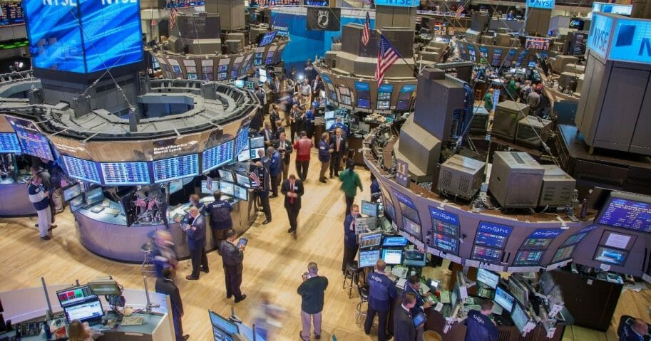 Busy trading floor of The New York Stock Exchange