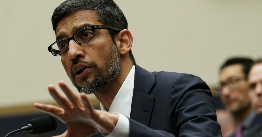 Google CEO Sundar Pichai testifies before the House Judiciary Committee.