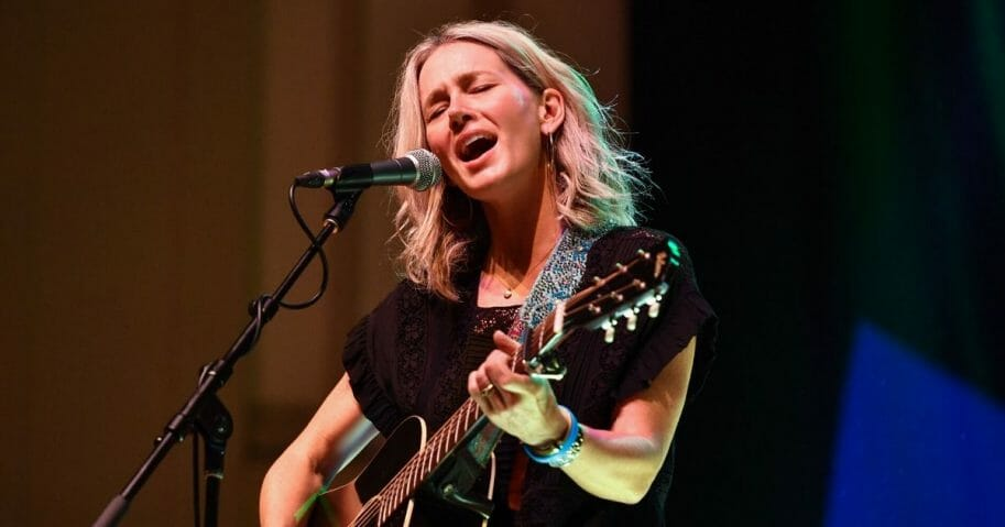 Allison Moorer performs at War Memorial Auditorium during AMERICANAFEST 2019 on Sept. 14, 2019, in Nashville, Tennessee.
