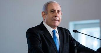 Israeli Prime Minister Benjamin Netanyahu speaks on Oct. 22, 2019, in Jerusalem, Israel.
