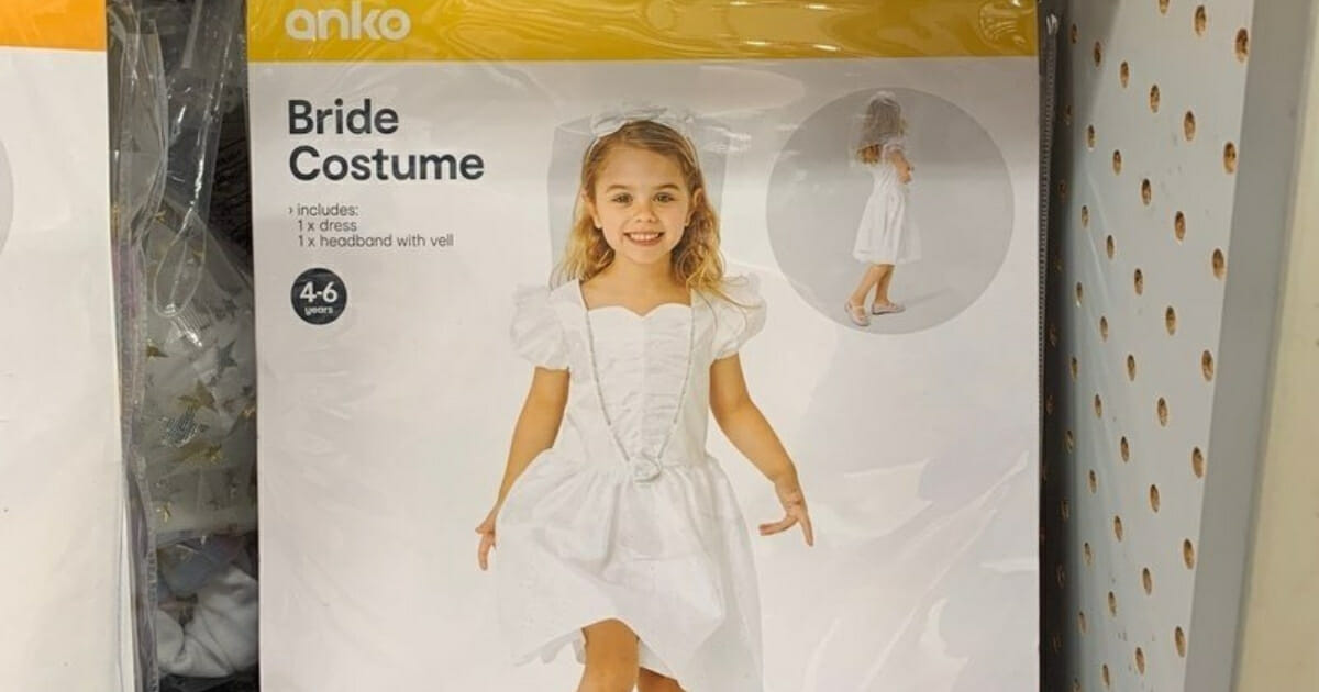 Kmart in Australia is removing a bride Halloween costume from its shelves.