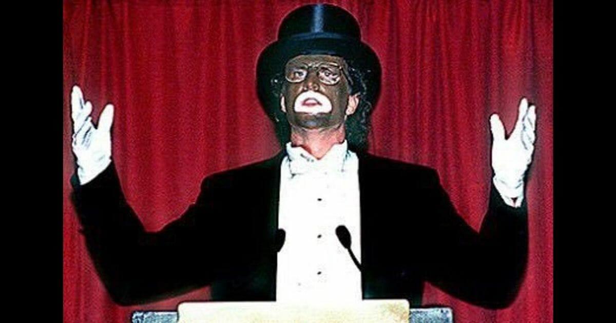 Ted Danson in blackface.