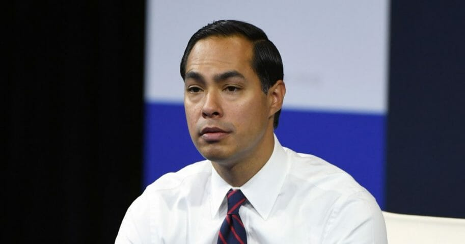 Julian Castro at a March for Our Lives event.